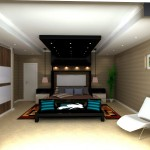 Designers Teenage bedroom with black overhangs