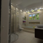 Designers Bathroom with bulkheads