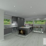 Combination of elements in kitchen