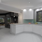 Curved gloss kitchen