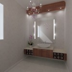 Classic Veneer Floating vanity unit